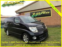 USED 2008 57 NISSAN ELGRAND  Highway Star 3.5, Phase 3 Automatic,8 Seats, Twin Power Door, Pearl Black +66K+PHASE 3+TWO POWER DOORS+