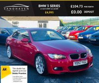 "USED 2007 57 BMW 3 SERIES 2.0 320I M SPORT 2dr 168 BHP SPORTS LEATHER SEATS * 19"" M-SPORT ALLOYS"