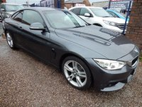 "USED 2014 64 BMW 4 SERIES 2.0 420D M SPORT 2d 181 BHP RED LEATHER INTERIOR,SAT NAV, 18"" ALLOY WHEELS,"