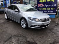 2013 VOLKSWAGEN CC 2.0 GT TDI BLUEMOTION TECHNOLOGY 4d 138 BHP, Only 66000 miles, 2 Owner £9495.00