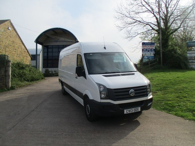 2013 13 VOLKSWAGEN CRAFTER 2.0 TURBO DIESEL MANUAL CR35 TDI L4 109 BHP 4 MTR BIG VAN WHITE