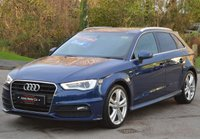 USED 2014 14 AUDI A3 1.4 TFSI S LINE 5d 150 BHP COMFORT PACK. PCP DEALS AVAILABLE.