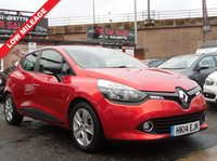 2014 RENAULT CLIO 0.9 EXPRESSION PLUS ENERGY TCE S/S 5d 90 BHP £4250.00