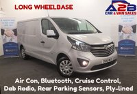 2016 VAUXHALL VIVARO 1.6 CDTi 2900 SPORTIVE 115 BHP Long Wheelbase, Air Con, Bluetooth, Cruise Control, 3 Seats, Ply-lined, Dab Radio, Rear Park Sensors and more..... £9980.00