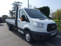 USED 2015 65 FORD TRANSIT 350 L4 Ex LWB DROPSIDE RWD 2.2 TDCI 125 PS Popular Dual Rear Wheel L4 Extended Frame Dropside Fitted With Ford 1- Stop Body