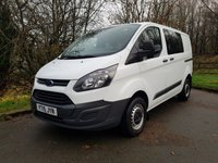2015 FORD TRANSIT CUSTOM 2.2 290 FACTORY DOUBLE CAB 5D 125 BHP ELECTRIC WINDOWS & MIRRORS £9495.00