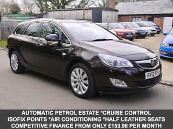 2012 VAUXHALL ASTRA 1.6 SE 5 Door Estate In Brown With Half Black Leather £6795.00