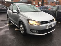 USED 2013 63 VOLKSWAGEN POLO 1.4 MATCH EDITION DSG 5d AUTO 83 BHP ONLY 2947 MILES FROM NEW! AUTOMATIC, CHEAP TO RUN, LOW ROAD TAX AND GOOD SPECIFICATION. MATCH EDITION WITH AIR CONDITIONING, ALLOY WHEELS, PARKING SENSORS, PRIVACY GLASS, CRUISE CONTROL.