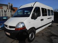 USED 2009 59 RENAULT TRUCKS MASTER MINIBUS 2.5 120.35 LWB L3H2 QSHIFT 1d AUTO 120 BHP REAR HOIST AND RAMP DIESEL AUTOMATIC