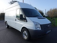 USED 2013 63 FORD TRANSIT  LWB HIGHTOP 2.2TDCI 100 BHP Direct From Leasing Company With Only 59000 Miles And Full Service History