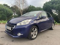 USED 2014 R PEUGEOT 208 1.6 E-HDI ALLURE 5d 92 BHP 1 OWNER 5 DOOR IN MET BLUE WITH FSH VERY ECONOMICAL!!!!!!!!!!!!!!1