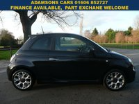 USED 2015 65 FIAT 500 0.9 TWINAIR S 3d 85 BHP Low Miles, Great History, Long Mot, 4 New Tyres, Free Tax