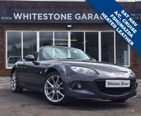 USED 2014 14 MAZDA MX-5 2.0 I ROADSTER SPORT TECH 2d 158 BHP SATELLITE NAVIGATION, HEATED LEATHER SEATS, CRUISE CONTROL, AIRCONDITIONING, ELECTRIC RETRACTABLE HARDTOP.
