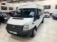2013 FORD TRANSIT 2.2 430 SHR BUS 17 STR 5d 134 BHP DIESEL  MINIBUS  £7795.00