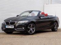 2015 BMW 2 SERIES 2.0 220D SPORT 2d 188 BHP £14289.00