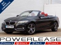 USED 2015 15 BMW 2 SERIES 2.0 220D SPORT 2d 188 BHP RED LEATHER PRO SAT NAV FSH