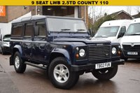 USED 2004 02 LAND ROVER DEFENDER 2.5 110 TD5 COUNTY STATION WAGON 5d 120 BHP A superb 9 seat July 2004 Land Rover Defender 110 2.5 TD5 County in Blue metallic with a charcoal interior. Cherished number plate included in the sale. Price includes 6 months warranty (extendable up to 2 years), service, 12 months MOT and an independent AA 128 point inspection report. 14 service stamps and 2 keys.