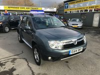 USED 2014 14 DACIA DUSTER 1.5 LAUREATE DCI 5 DOOR 107 BHP IN METALLIC BLUE WITH ONLY 27000 MILES APPROVED CARS ARE PLEASED TO OFFER THIS DACIA DUSTER 1.5 LAUREATE DCI 5 DOOR 107 BHP IN METALLIC BLUE WITH ONLY 27000 MILES AND ONLY 2 OWNERS WITH A GOOD SPEC INCLUDING ABS,ALLOYS,AIR CON,6 SPEED GEARBOX,REAR PARKING SENSORS AND MUCH MORE WITH A FULL SERVICE HISTORY SERVICED AT 9K,16K,25K AND 27K A GREAT LOOKING AND DRIVING DUSTER AT VERY SENSIBLE MONEY.