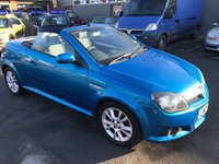 2005 VAUXHALL TIGRA 1.4 SPORT 16V TWINPORT 2d 90 BHP CONVERTABLEIN METALLIC BLUE AND SILVER WITH ONLY 80000 MILES (TRADE CLEARANCE) £1199.00