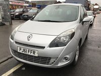 USED 2011 61 RENAULT SCENIC 1.5 DYNAMIQUE TOMTOM DCI 5d 110 BHP Diesel, 7 seater, sat/nav, alloys, air/con. Superb.