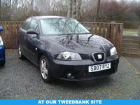 USED 2007 07 SEAT IBIZA 1.2 REFERENCE SPORT 12V 5d 69 BHP AT OUR TWEEDBANK SITE