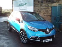 USED 2014 64 RENAULT CAPTUR 0.9 DYNAMIQUE S MEDIANAV ENERGY TCE S/S 5d 90 BHP Full Service History With SAT NAV