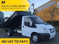 USED 2006 56 FORD TRANSIT 2.4 T350m TIPPER [ NEW BUILD ] DRW LOW MILEAGE