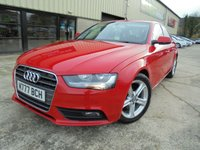 USED 2012 AUDI A4 2.0 TDI SE TECHNIK 4d 134 BHP Superb Condition, FSH, No Deposit Needed, Part Exchange Welcomed