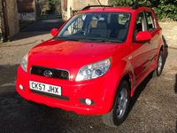 USED 2007 57 DAIHATSU TERIOS 1.5 SE 5d AUTO 104 BHP AUTOMATIC, VERY LOW MILEAGE, 4WD, 4X4 LOVELY. FINANCE ME TODAY-UK DELIVERY POSSIBLE