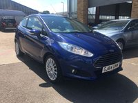 USED 2014 64 FORD FIESTA 1.0 EcoBoost Zetec 3dr (start/stop) FULL FORD SERVICE & ONLY 19K