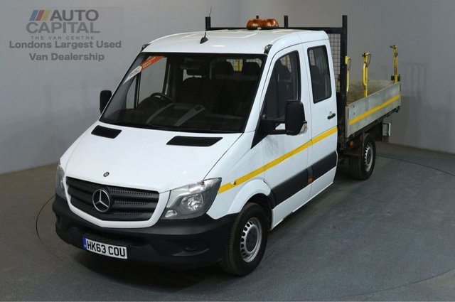 2013 63 MERCEDES-BENZ SPRINTER 2.1 313 CDI D/C MWB 129 BHP 6 SEATER TIPPER ONE OWNER FULL S/H SPARE KEY