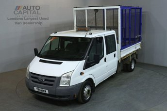 2011 FORD TRANSIT 2.4 350 100 BHP LWB D/CAB 6 SEATER CAGE COMBI TIPPER £5490.00