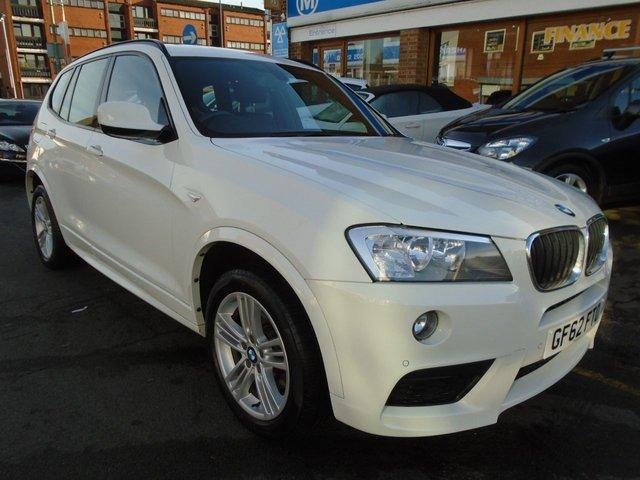 2012 62 BMW X3 2.0 XDRIVE20D M SPORT 5d AUTO 181 BHP