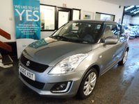 USED 2016 65 SUZUKI SWIFT 1.2 SZ3 3d 94 BHP One owner, full service history, supplied with first Mot & third service. Finished in Metallic Galactic Grey with Black cloth seats.