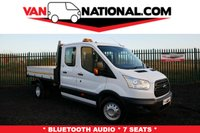 USED 2016 66 FORD TRANSIT 2.2 350 L3 DCB C/C DRW 125 BHP TIPPER * 7 SEATS * *****READY TO TIP TODAY!!!!!*****