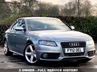 USED 2012 12 AUDI A4 2.0 TDI S LINE 4d AUTO WITH PADDLE SHIFT 141 BHP