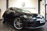 USED 2015 15 VOLKSWAGEN GOLF 2.0 R DSG 5DR 298 BHP DEEP BLACK WITH BLACK CLOTH UPHOLSTERY + EXCELLENT SERVICE HISTORY + BLUETOOTH + XENON LIGHTS + SPORT SEATS + DAB RADIO + CRUISE CONTROL + HEATED MIRRORS + PARKING SENSORS  + 19 INCH ALLOY WHEELS