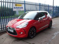 USED 2012 62 CITROEN DS3 1.6 e-HDi Airdream DSport Plus 3dr Diesel with Full Leather