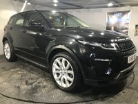USED 2016 16 LAND ROVER RANGE ROVER EVOQUE 2.0 TD4 HSE DYNAMIC 5d 177 BHP Bluetooth : Satellite Navigation : DAB Radio : Leather upholstery : Heated front seats : Heated front screen : Electric driver + passenger seats : LandRover Terrain Response system : Meridian sound system : Reversing camera plus front and rear sensors