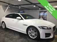 USED 2015 65 JAGUAR XF 2.0 R-SPORT 4d AUTO 177 BHP Only £30 a year road tax : Electric sunroof  :  Bluetooth  :  Sat Nav  :  DAB Radio  :  Contrasting red leather upholstery : Heated front seats    :    Reversing camera plus front and rear parking sensors