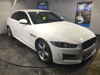 USED 2016 65 JAGUAR XE 2.0 R-SPORT 4d AUTO 178 BHP Only £30 a year road tax : Bluetooth : Satellite Navigation :  DAB Radio :  Contrasting red leather upholstery :  Heated front seats : Rear parking sensors  :  Full Jaguar service history  :  Just one previous owner