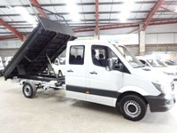 """USED 2015 15 MERCEDES-BENZ SPRINTER 2.1 313 CDI LWB DOUBLE CAB 129 BHP CREW CAB TIPPER """"YOU'RE IN SAFE HANDS"""" - AA DEALER PROMISE"""