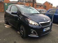 USED 2015 65 PEUGEOT 108 1.2 PURETECH ALLURE 3d 82 BHP TOP SPEC ALLURE MODEL WITH 5924 MILES! PRIVACY GLASS, TOUCHSCREEN MEDIA, DAB, ALLOY WHEELS AND AIR CON!