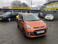 USED 2014 14 HYUNDAI I10 1.2 PREMIUM 5d 86 BHP IN METALLIC ORANGE WITH 23000 MILES AND A FULL HYUNDAI SERVICE HISTORY APPROVED CARS ARE PLEASED TO OFFER THIS HYUNDAI i10 IN A METALLIC ORANGE WITH 23000 MILES WITH A FULL MAIN DEALER SERVICE HISTORY, SERVICED AT 2K, 9K, 15K AND 18K, THIS VEHICLE IS A PERFECT FIRST TIME CAR LOW INSURANCE AND LOW ROAD TAX.