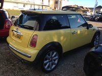 2001 MINI HATCH ONE 1.6 ONE 3d 89 BHP £SOLD