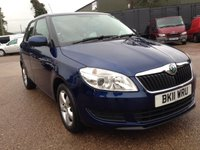 USED 2011 11 SKODA FABIA  SE 1.6 TDI CR 105bhp ONLY 41,676 MILES. blue 1 former keeper