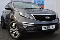 USED 2015 15 KIA SPORTAGE 1.7 CRDI 4 ISG Incredible High Spec 5d Family SUV with Sat Nav Heated Leather Seats Twin Panoramic Sunroof and Kia 7 Year Warranty until 2022 2 FORMER KEEPERS