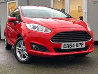 USED 2015 FORD FIESTA 1.2 ZETEC 3d 81 BHP PREMIUM WARRANTY INCLUDED