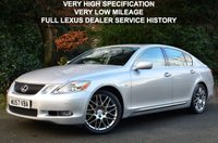 USED 2007 57 LEXUS GS 3.0 300 SE-L 4d AUTO 245 BHP AN EXCEPTIONALLY GOOD EXAMPLE