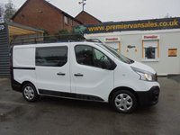 2015 RENAULT TRAFIC 1.6 DCI DIESEL SL27 BUSINESS ENERGY 120 BHP FACTORY SIX SEAT DOUBLE CAB, FULL RHINO ROOF RACK WITH ROLLER MOT TILL 27 - 05 - 2019 £8500.00